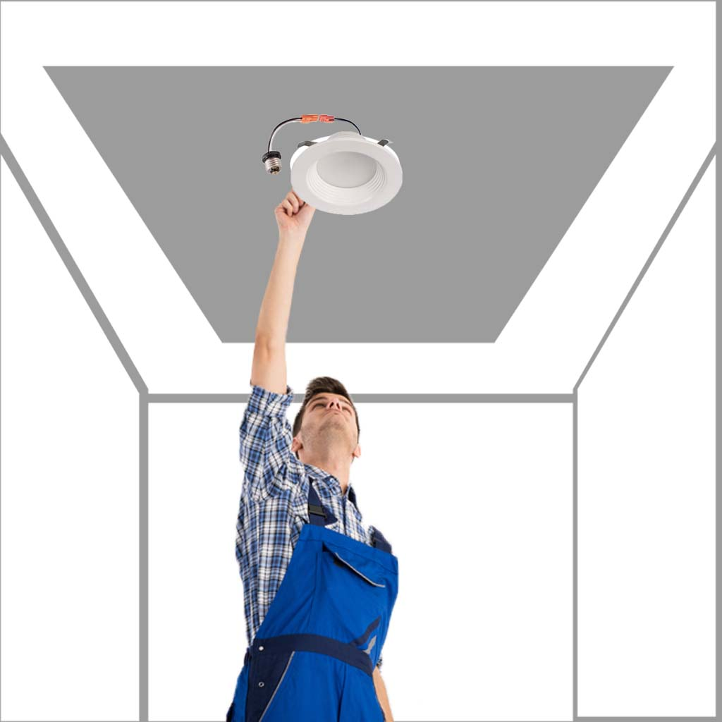 4 Inch Dimmable Led Downlights 10w Retrofit Cri 90 Ledmyplace Wiring Diagram Of Triac Dimming Downlight Connecting Over 1 Make Sure You Have A Compatible Dimmer Installed For Our To Dim Appropriately Details Must Read The Instruction Booklet