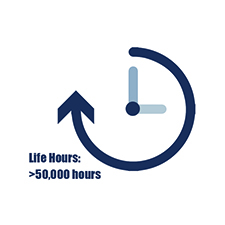 >50,000 Life Hours