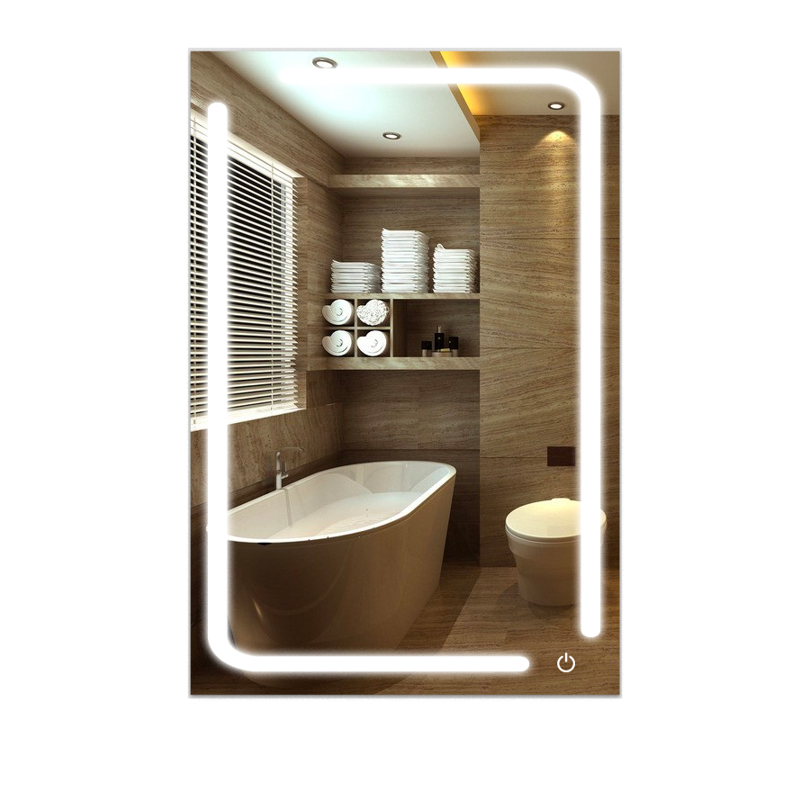 Peachy Led Bathroom Mirror 24 X 36 Inch Lighted Vanity Mirror Includes Defogger Touch Switch Controls Led Light With On Off Download Free Architecture Designs Scobabritishbridgeorg