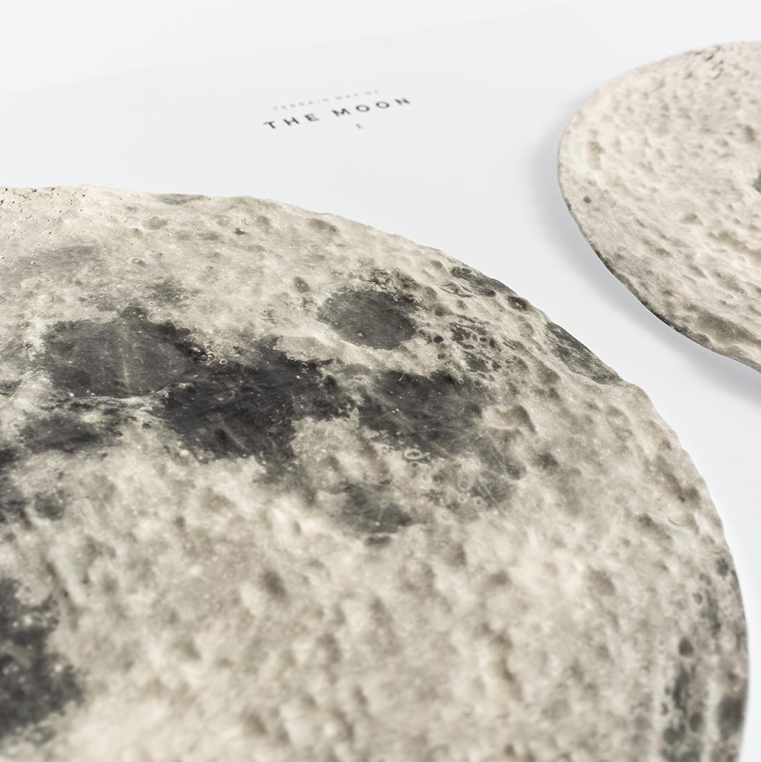 Terrain Map of Moon Details