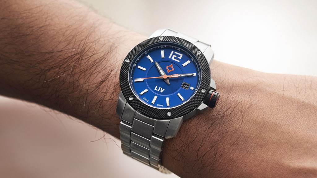 liv watches 22mm stainless steel bracelet on gx base