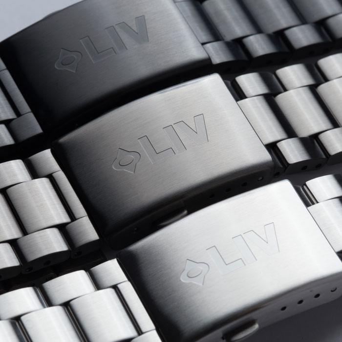 liv watches 22mm stainless steel bracelets