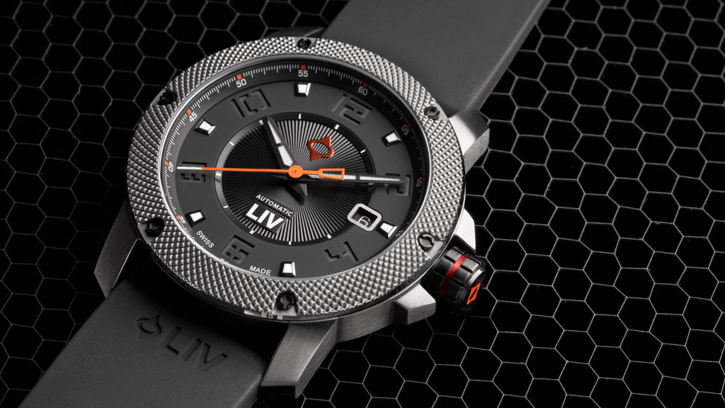 LIV Watches GX1-A Stealth on silicone