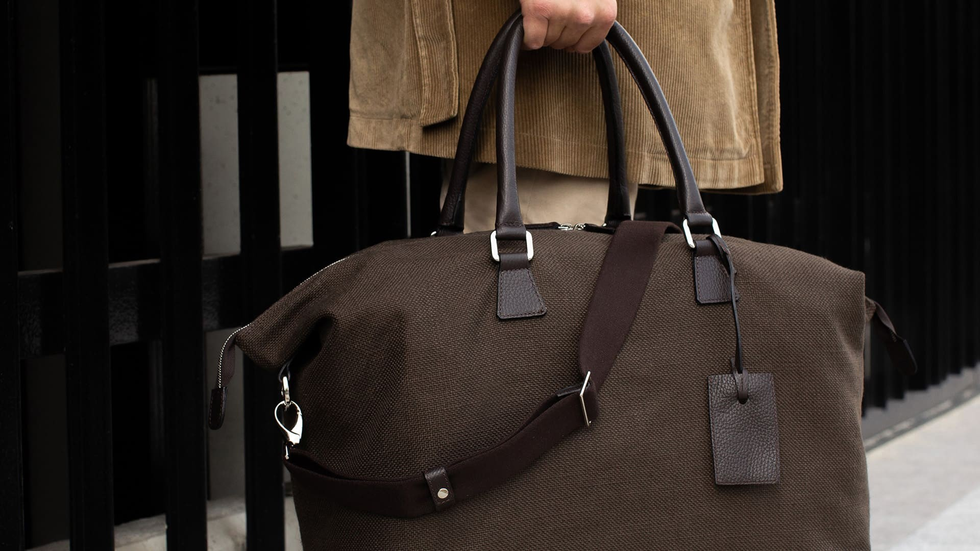 Gym bag Leather and Linen
