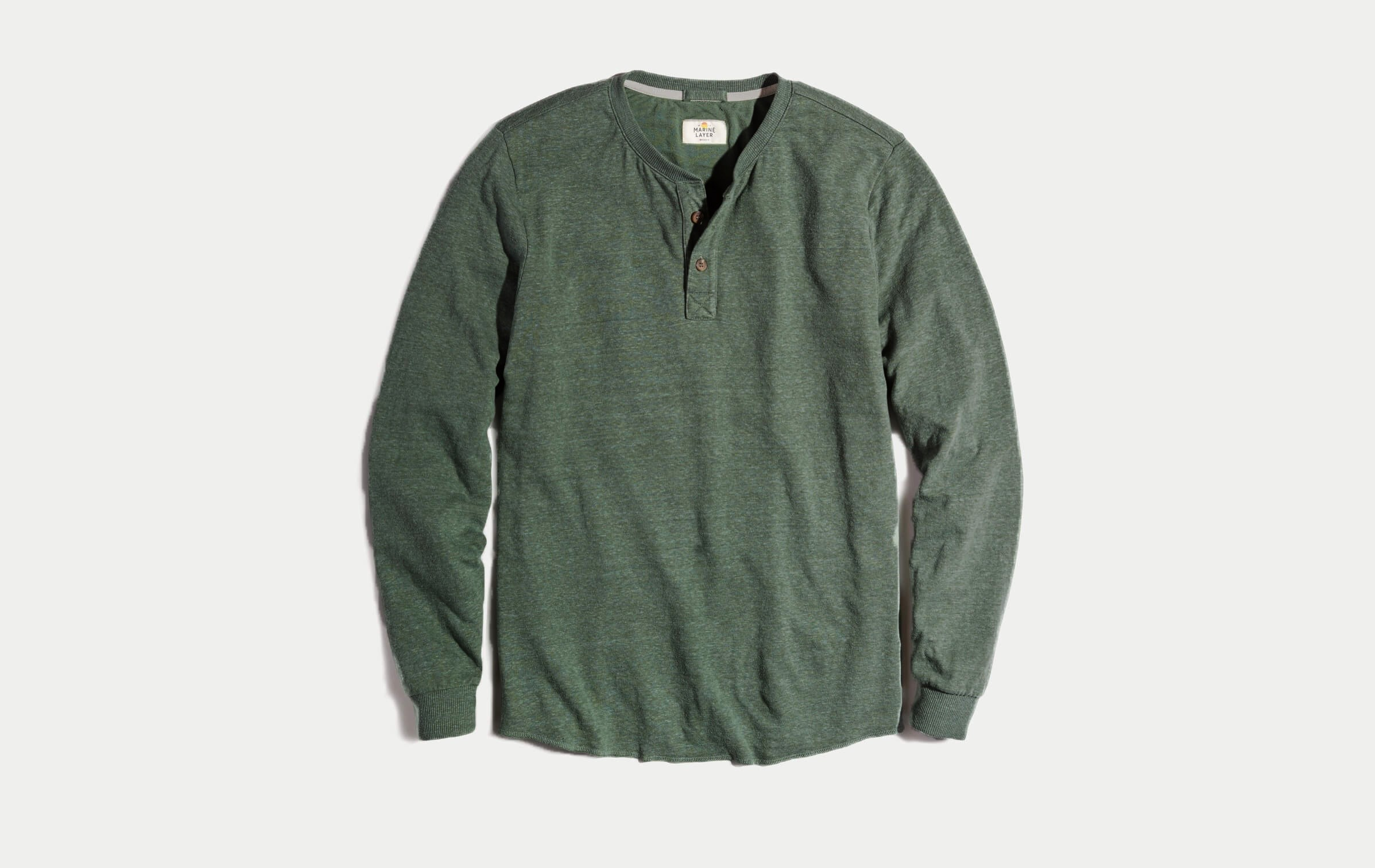 c6593b6c12c Double Knit Henley in Forest Green – Marine Layer
