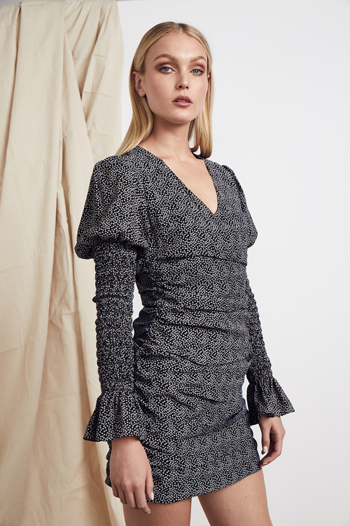 MLM LABEL KOI DRESS MERAIS DOT PUFFED SLEEVES