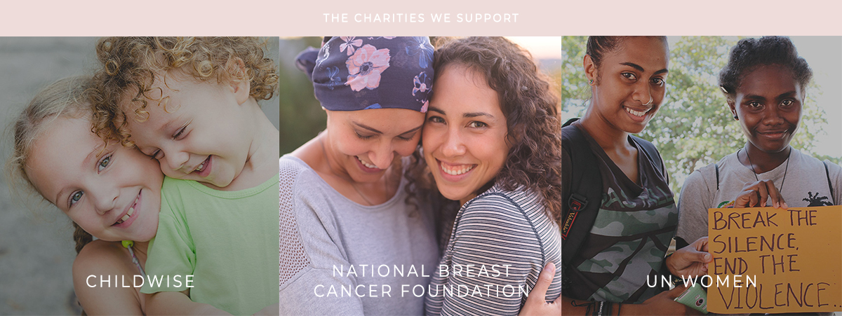 CHARITIES MLM LABEL DONATES TO: CHILDWISE, BREAST CANCER FOUNDATION, UN WOMEN