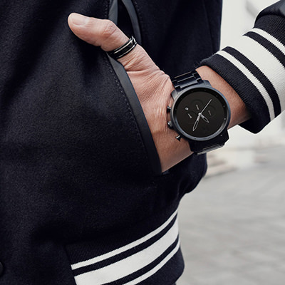 cddc262724b4 Black Link Watch | Men's - 45mm | Chrono Series | MVMT
