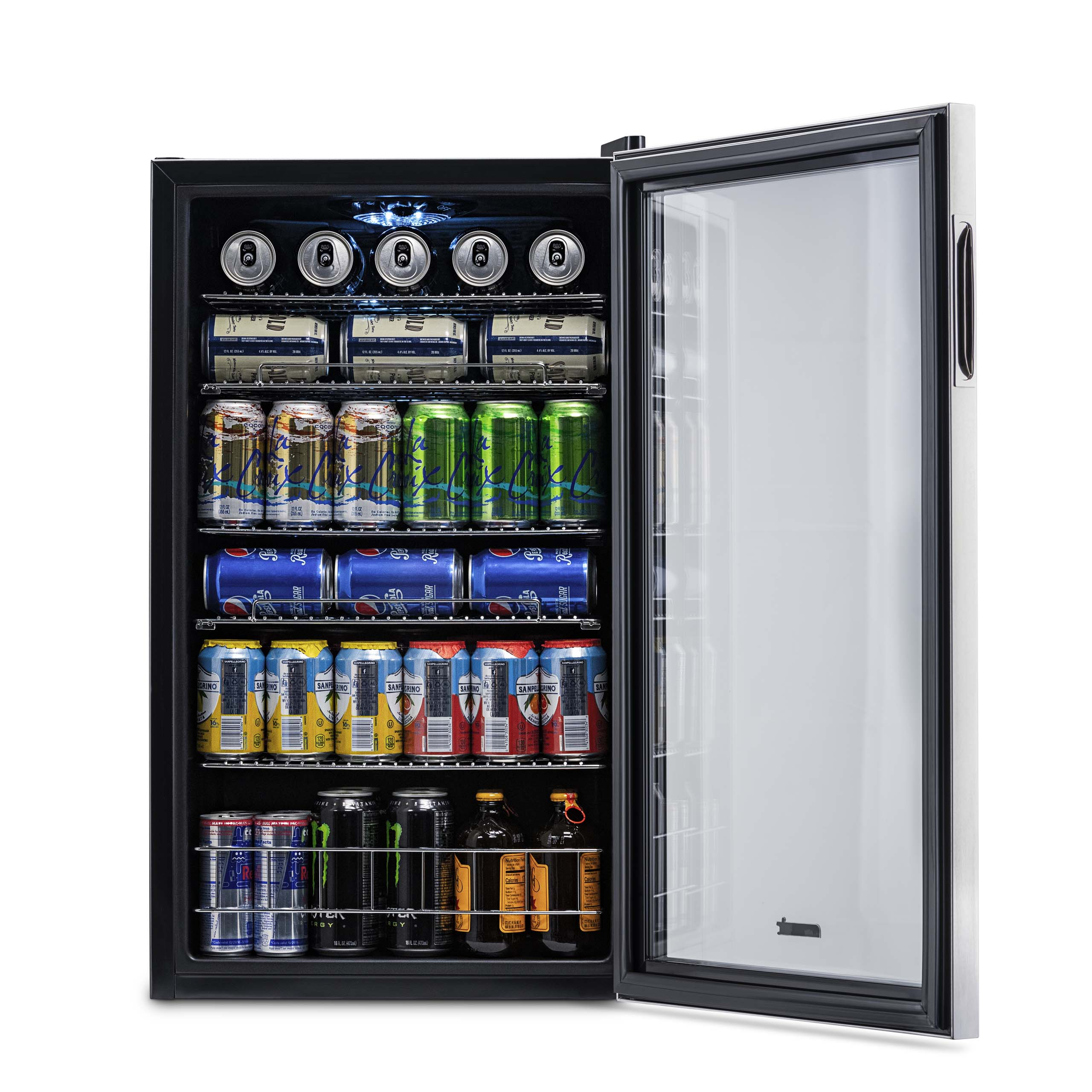 NewAir AB-1200 126-Can Beverage Cooler   Stainless Steel