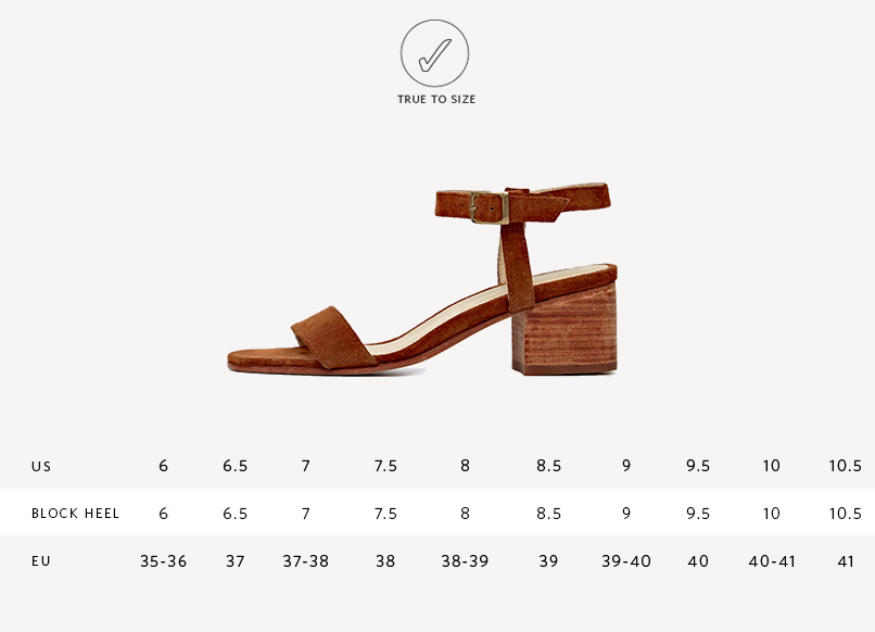 Nisolo Women's Lucia Block Heel Sandal Nutmeg | Ethically Handcrafted Shoes