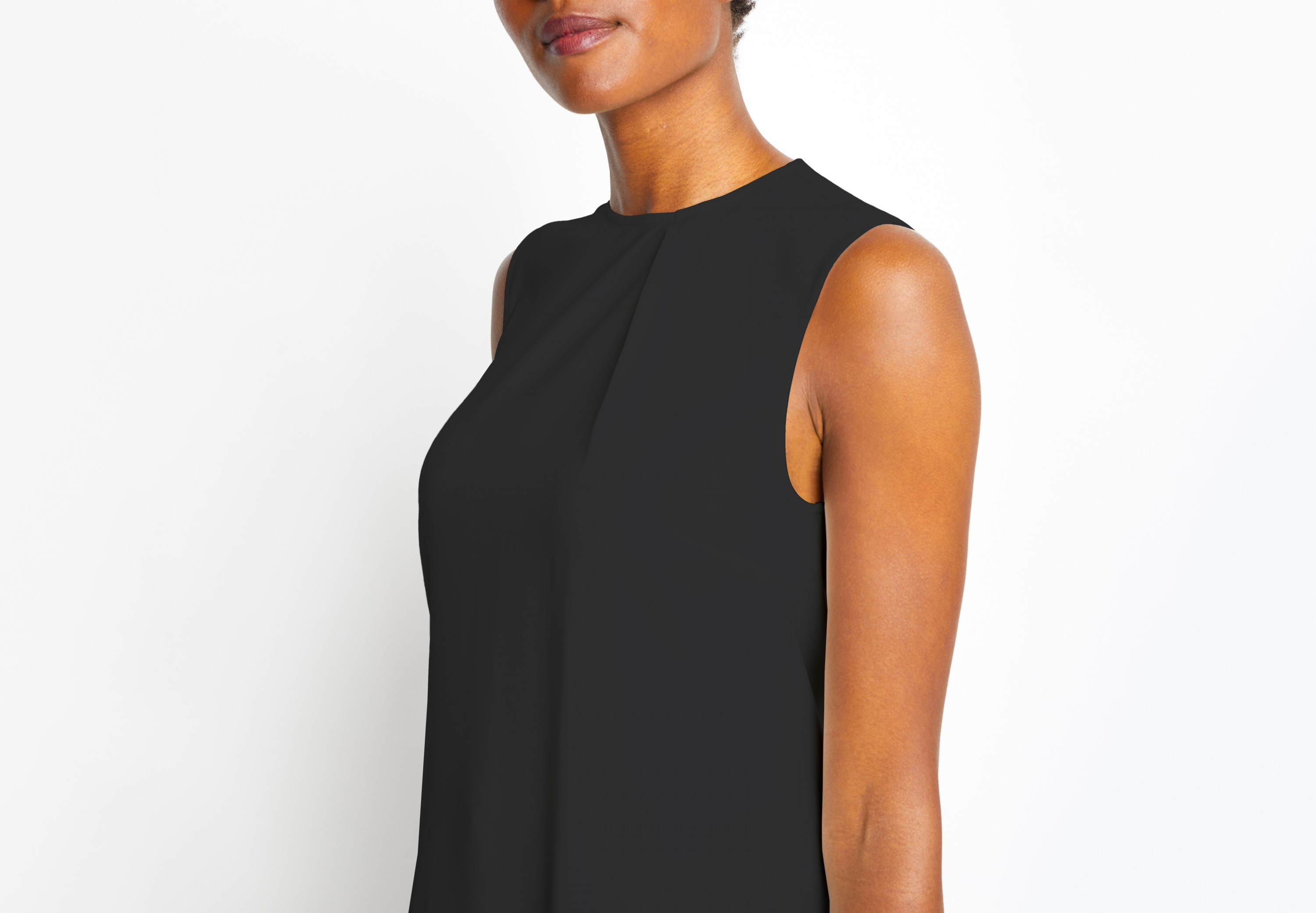 Of Mercer | Black Morris Top | Detail