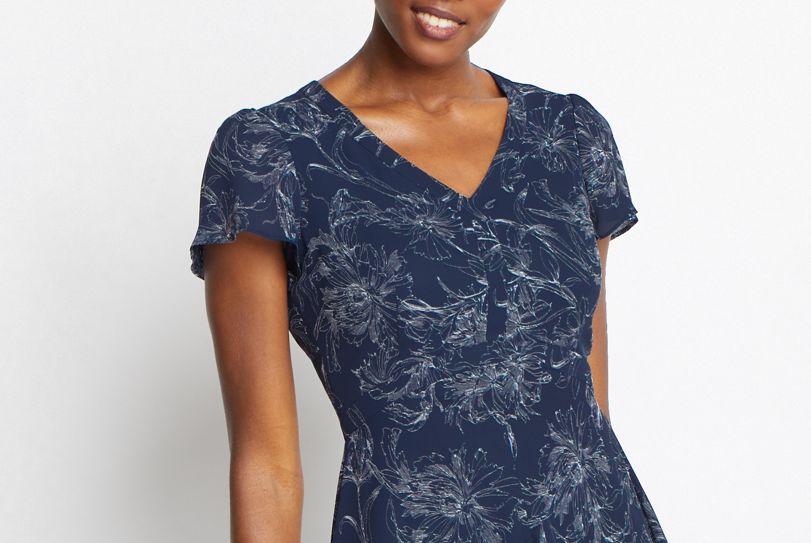 Of Mercer Navy Minetta Dress Detail