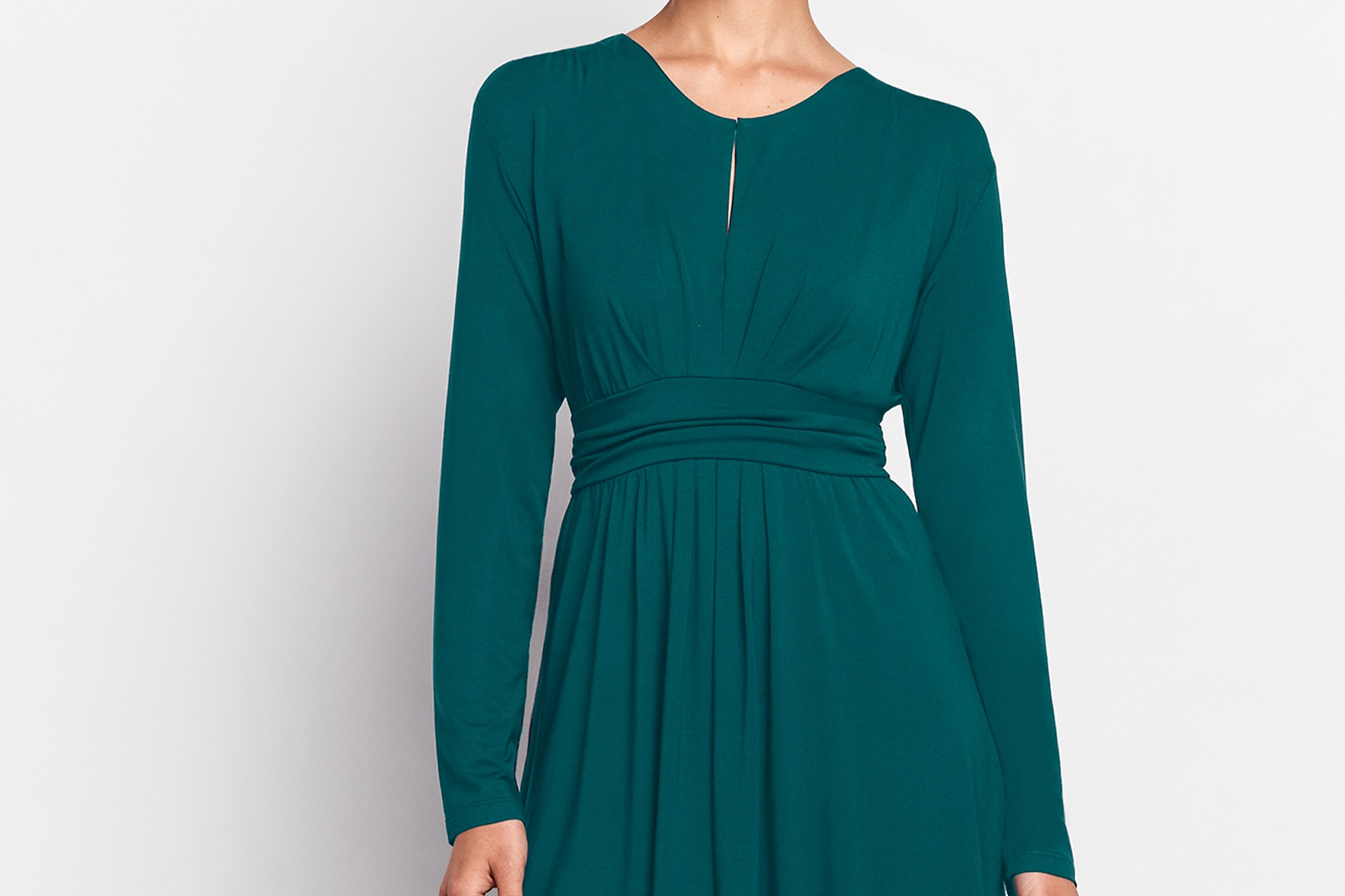 Teal Cornelia Dress Detail | Of Mercer