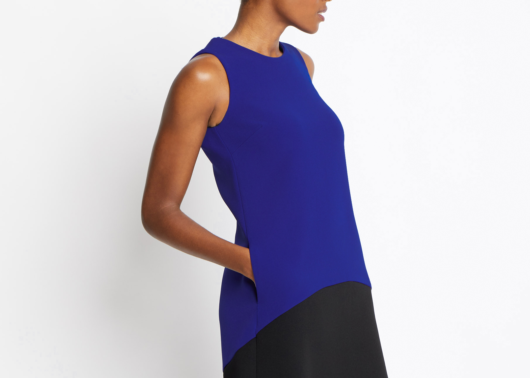Of Mercer Black / Blue Mott Dress Detail