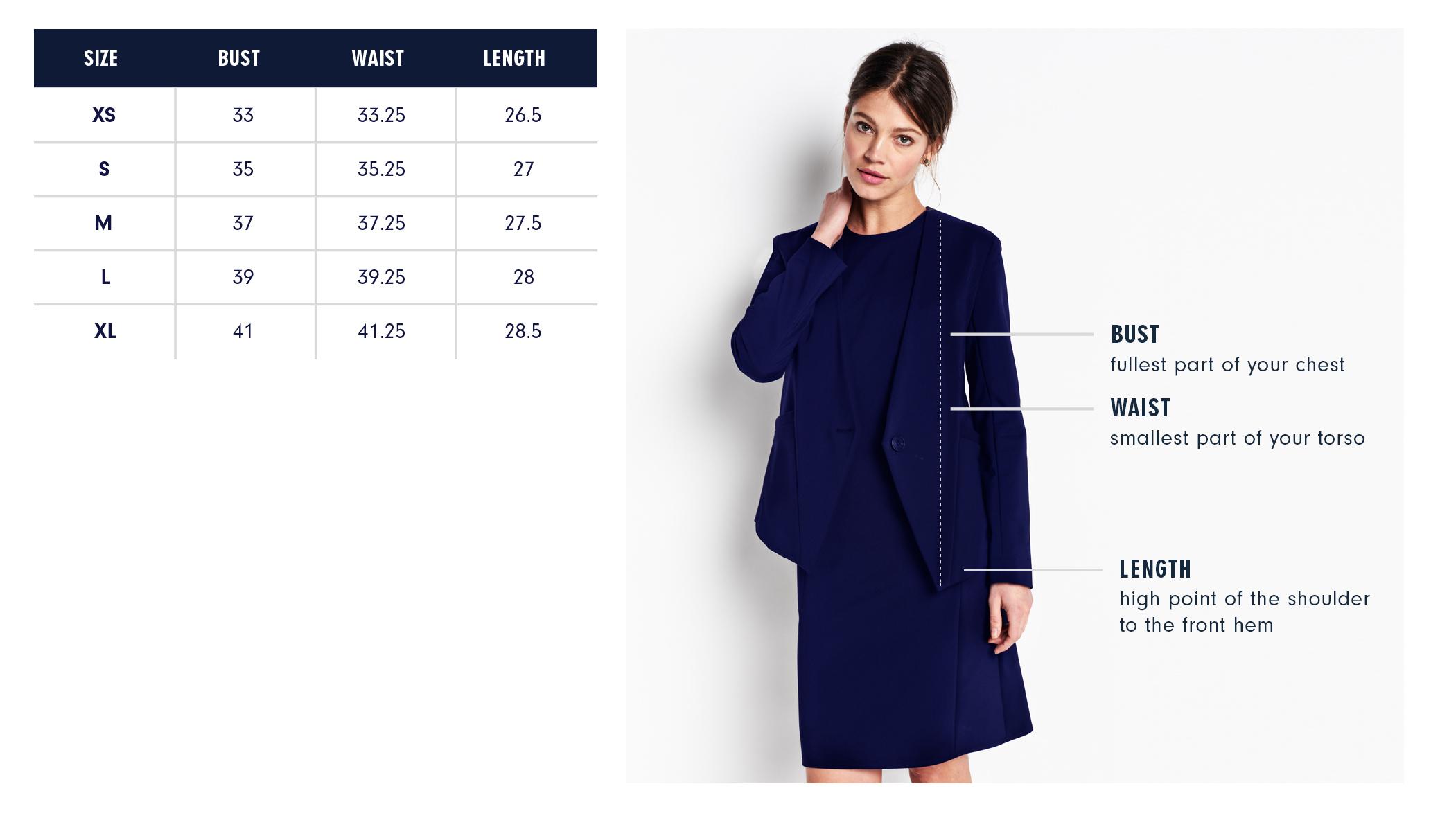 Of Mercer | Lenox Blazer | Size Guide