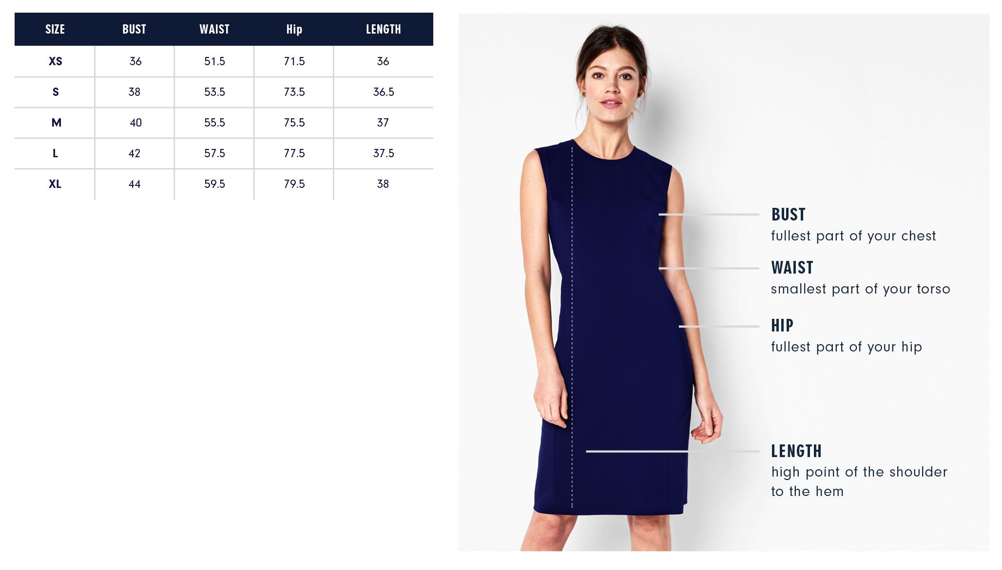 Of Mercer Clinton Dress Size Guide