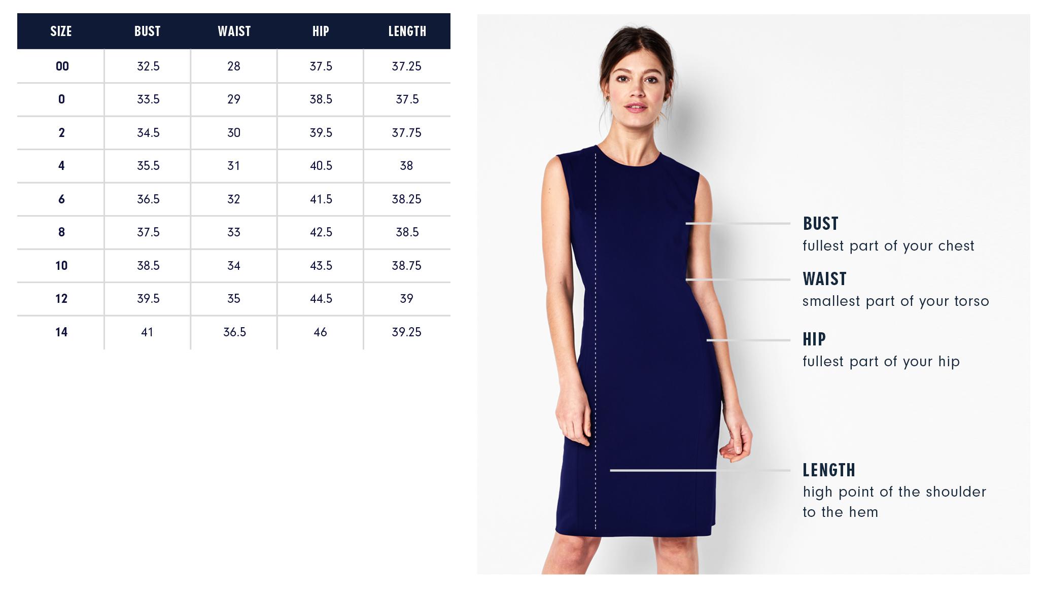 Of Mercer James Dress Size Chart