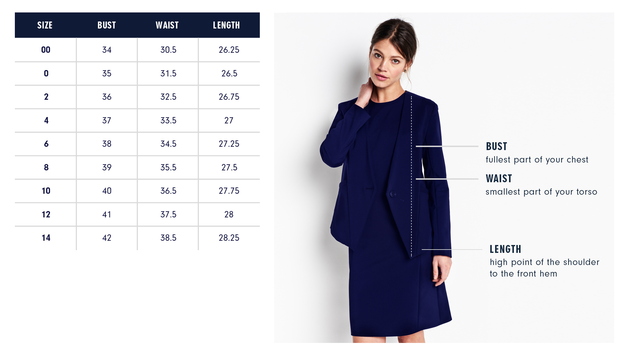 Of Mercer | Prince Blazer | Size Guide