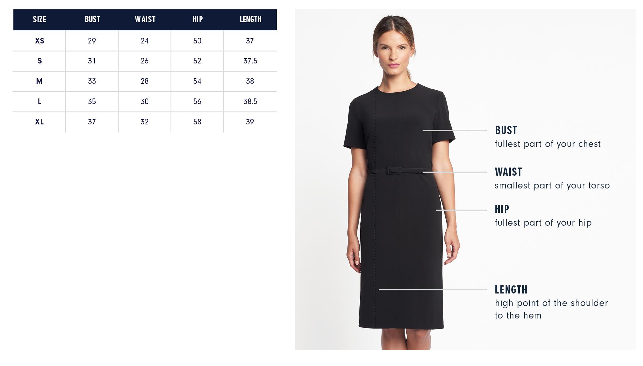 Thelma Dress Size Chart