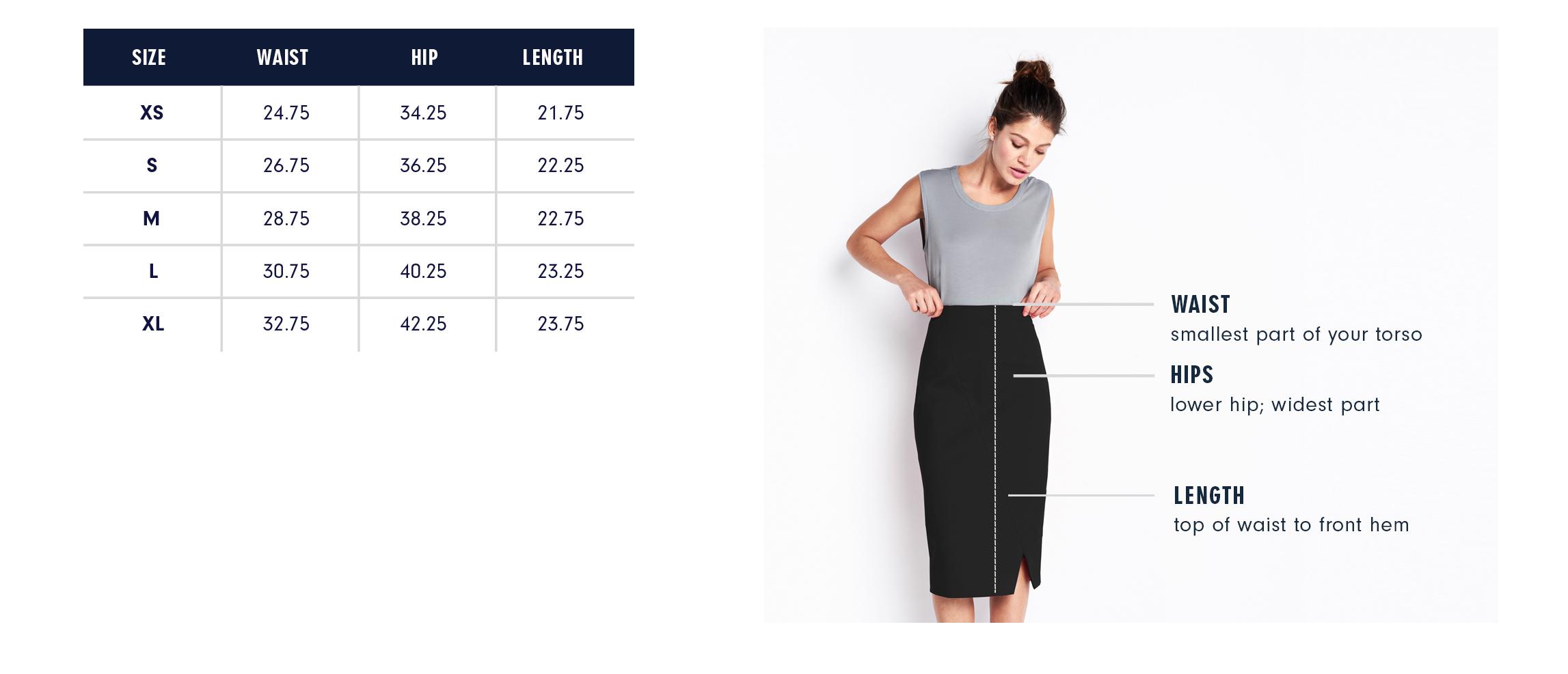 Of Mercer Black Beatrice Skirt Size Guide