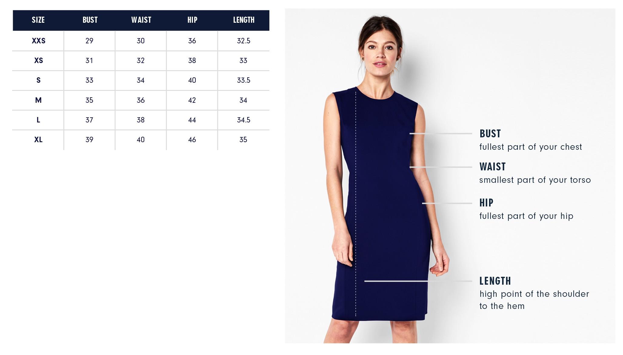 Of Mercer Mott Dress Size Chart