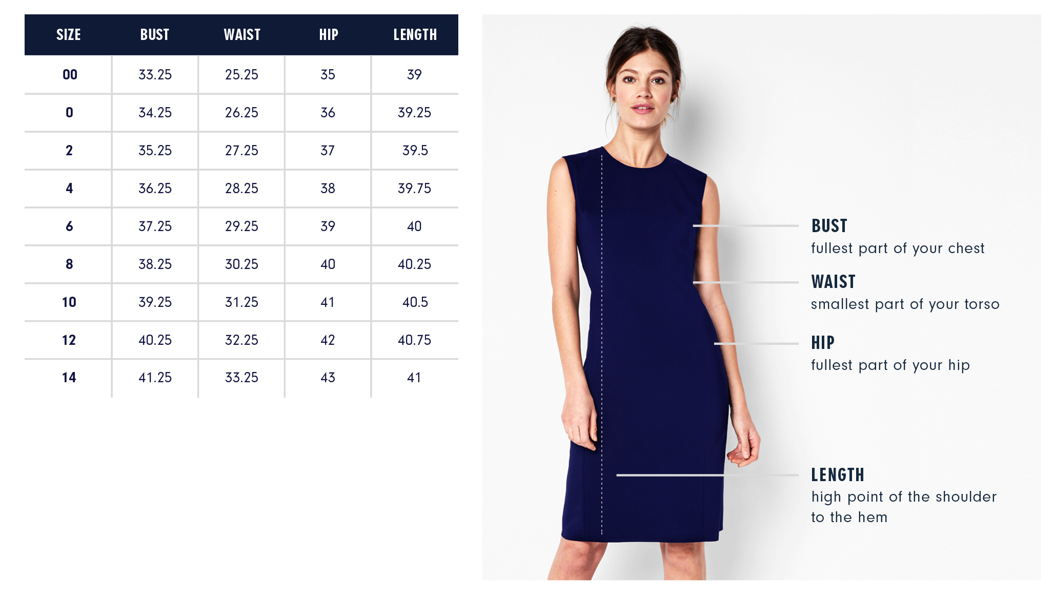 Of Mercer | Bryant Dress | Size Guide