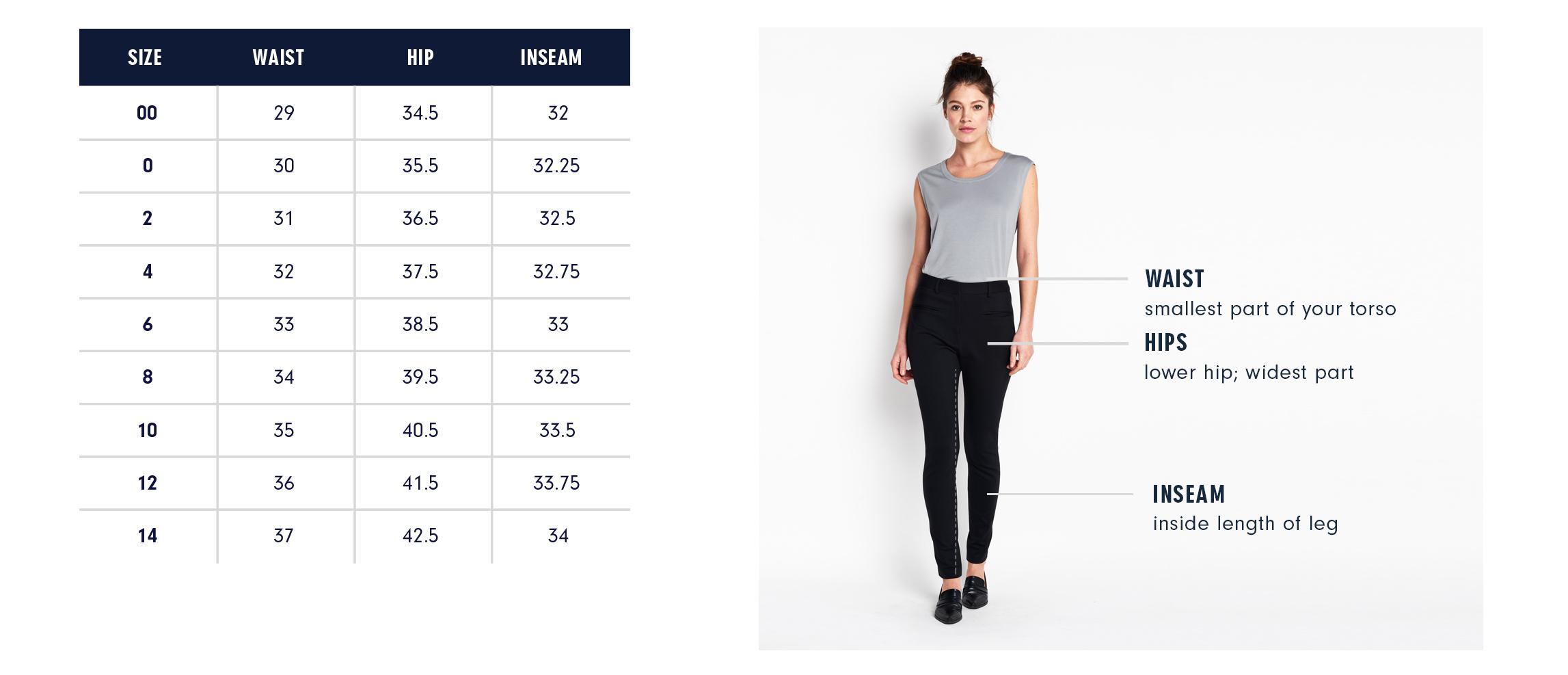 Of Mercer | Lexington Pants | Size Guide