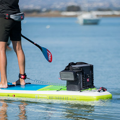 Watertight Cool Bag on the back of Red Paddle Co Voyager