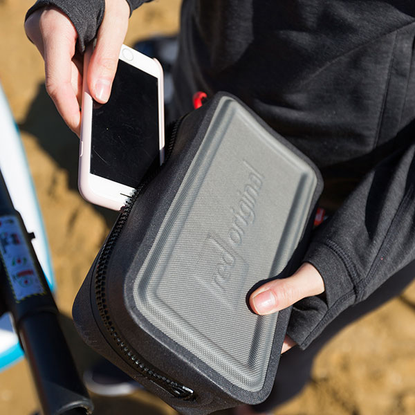 Storing a phone inside the Dry Pouch