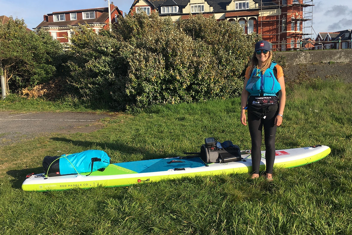 Lucy paddles on the River Wye