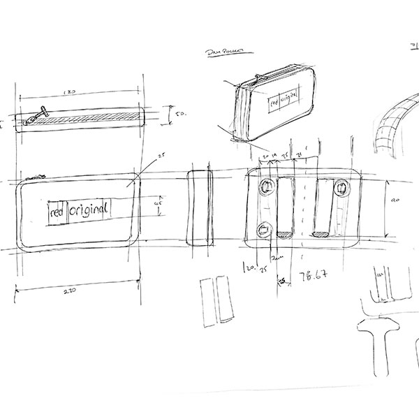 Dry Pouch Line Drawing