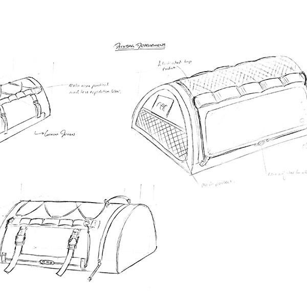 Line Drawing Deck Bag