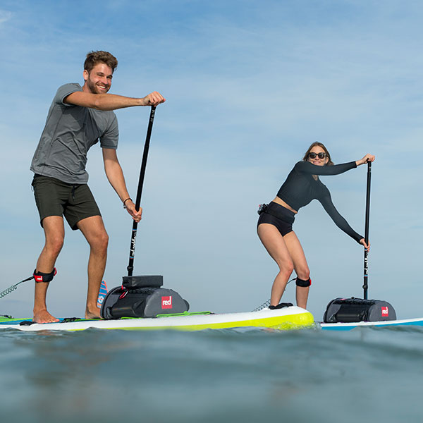 Male and Female on Paddle Boards