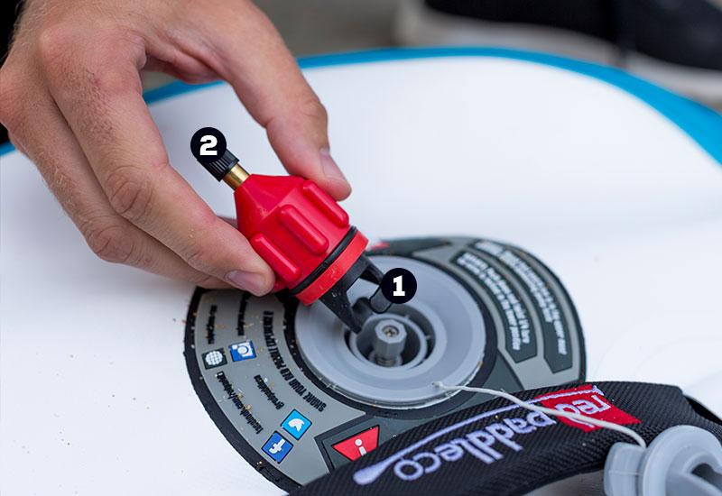 schrader valve paddle board