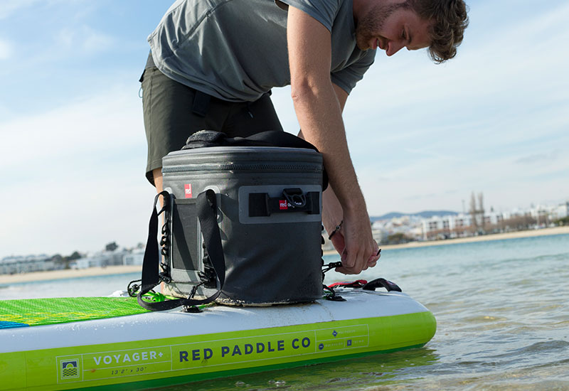 Attaching the Red Original cool bag to a SUP