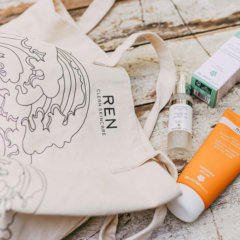 REN Clean Skincare Tote Bag Bag for Life