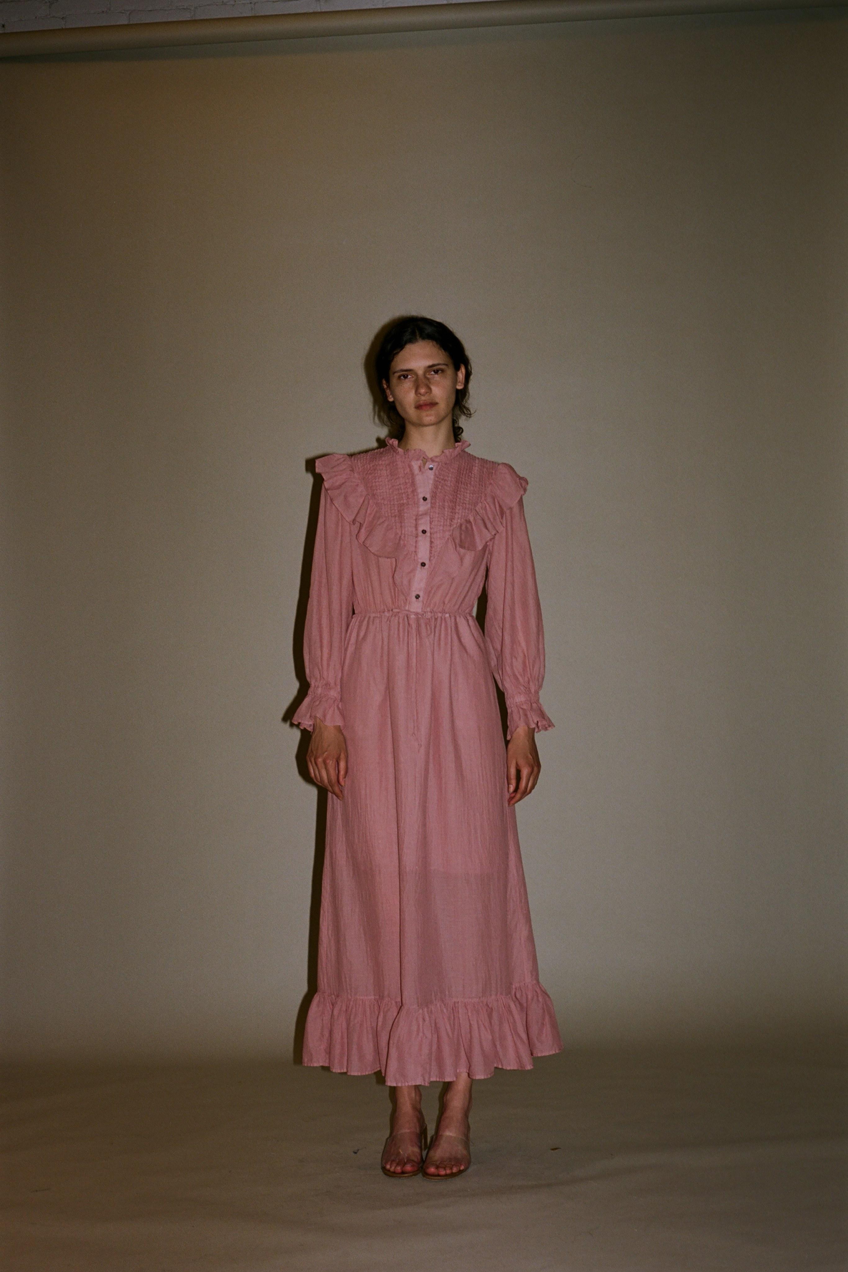 Clara Cotton Ruffle Dress