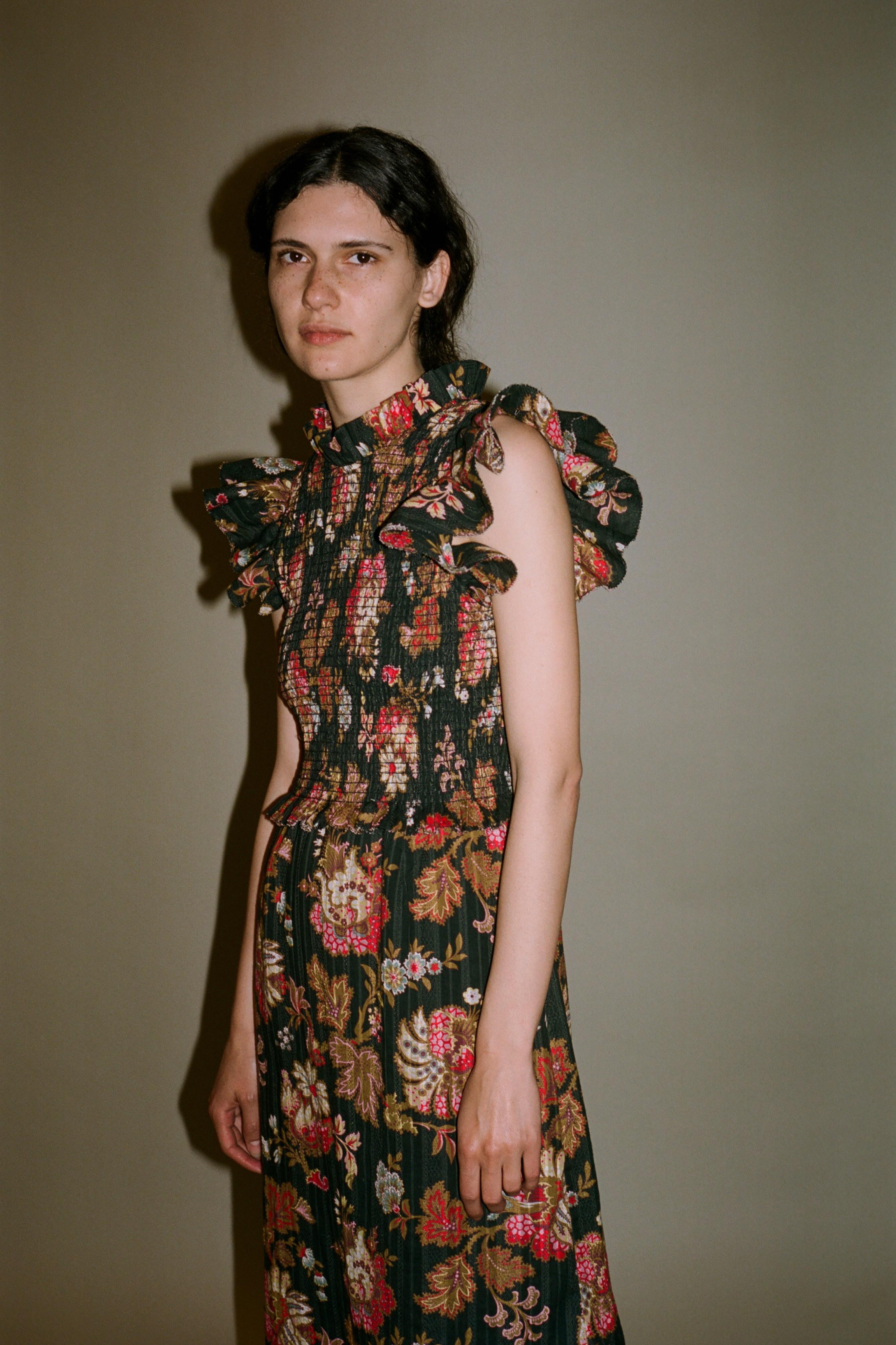 Pascale paisley midi dress