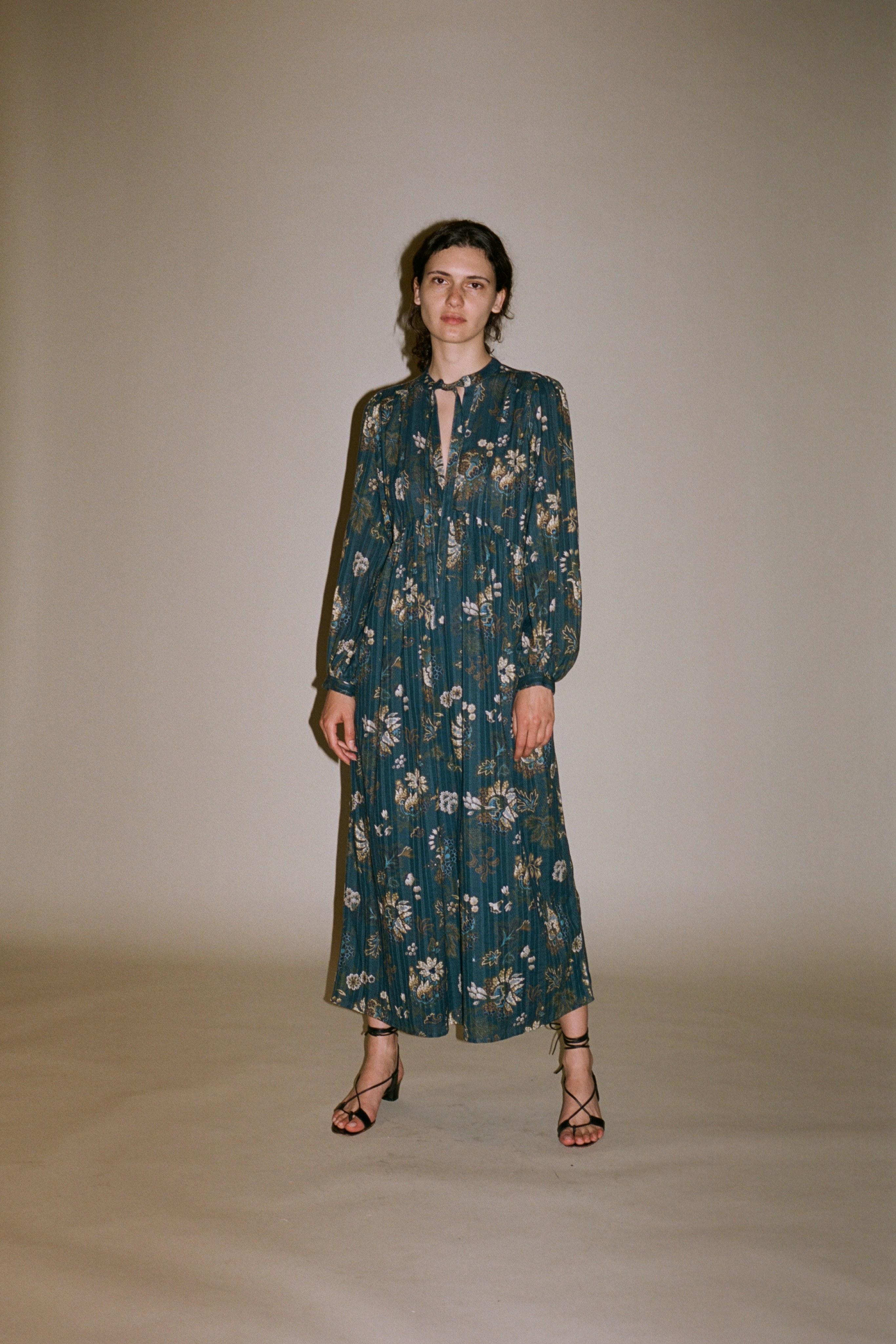 Pascale paisley long sleeve maxi dress