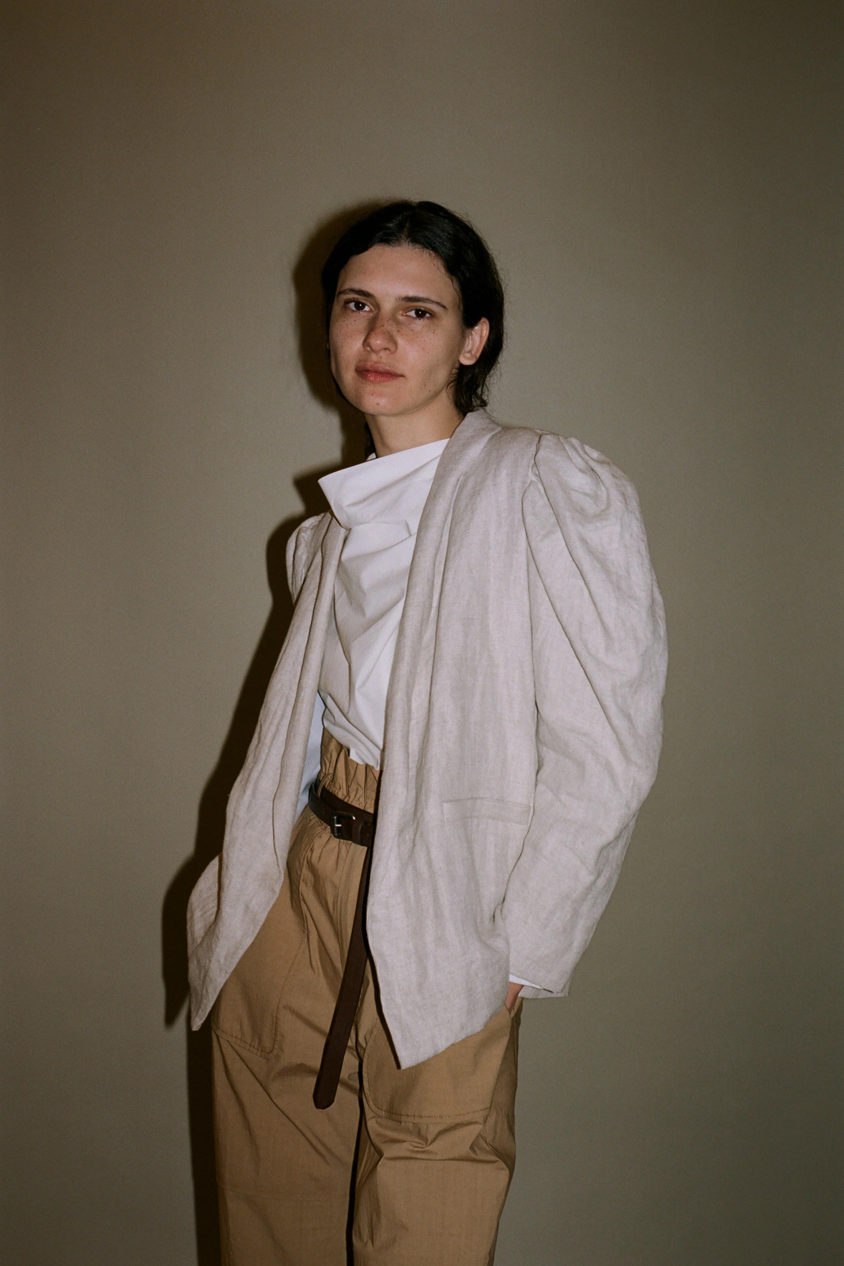 Leon linen blazer, Clara cotton blouse, Scott Pant
