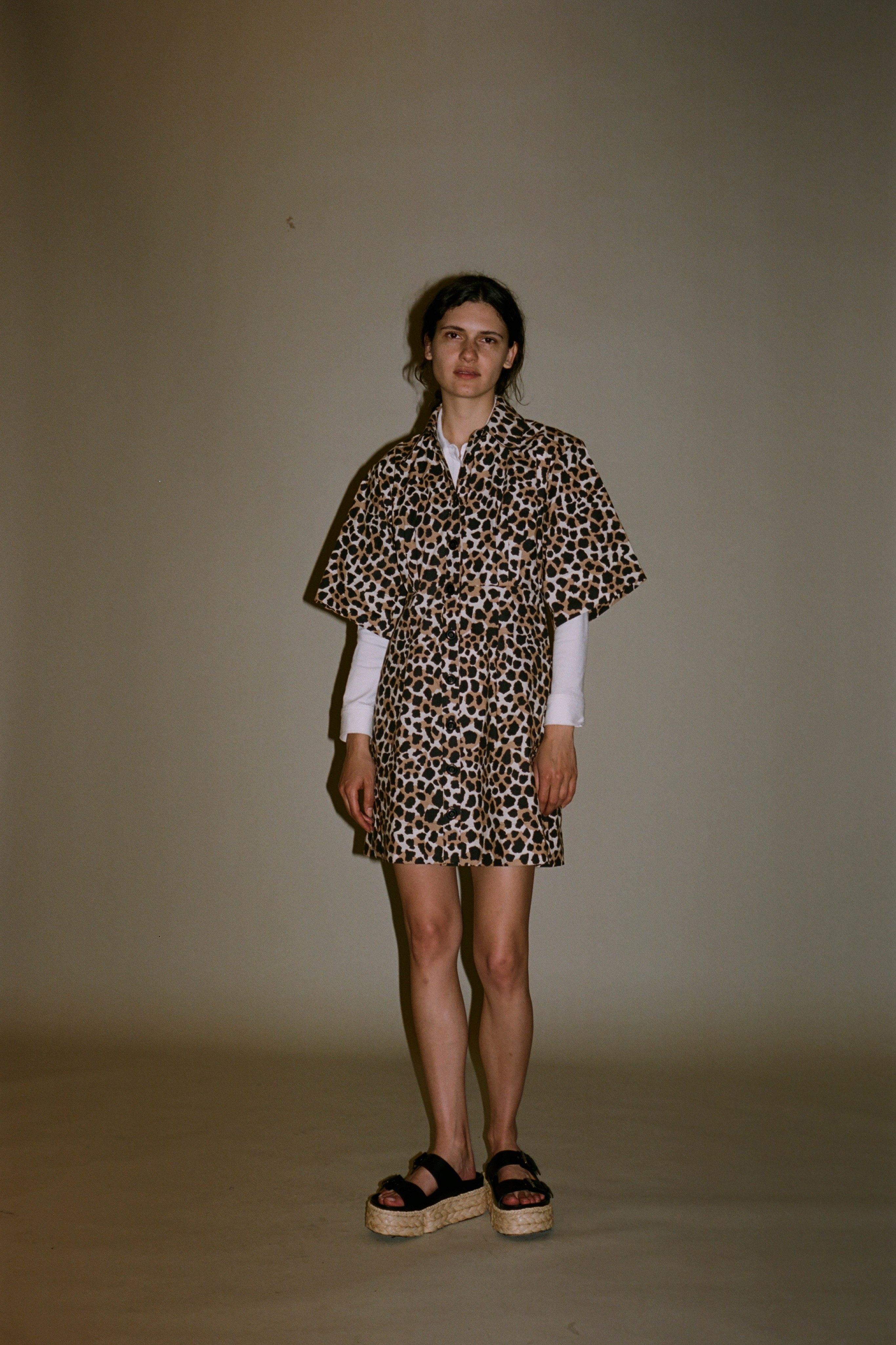 Apollo leopard print shirt dress