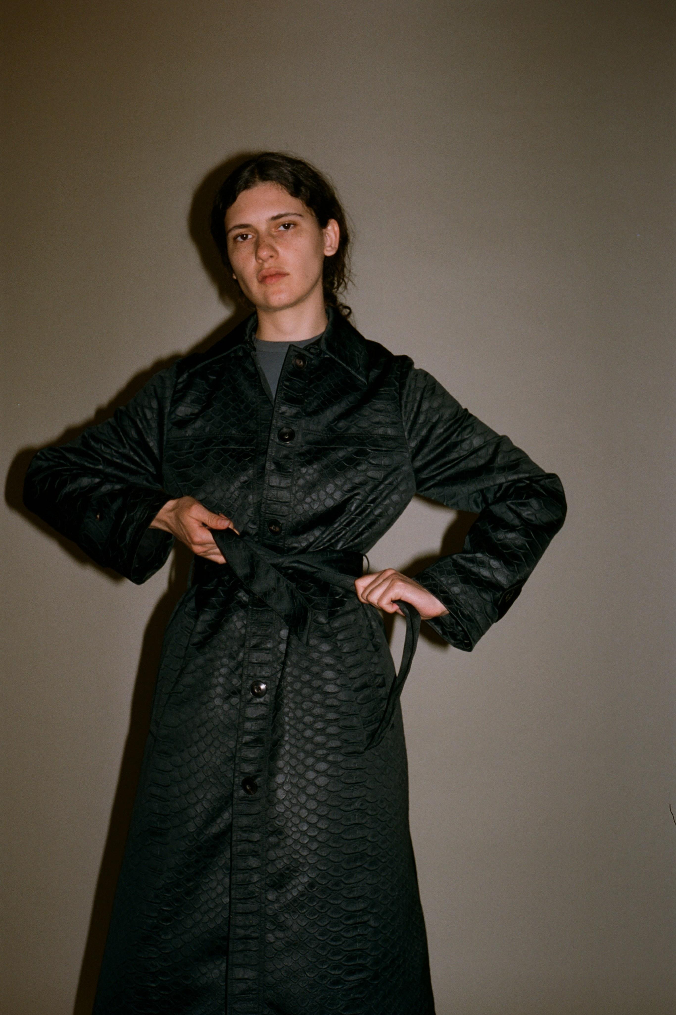 Simon snake trench coat