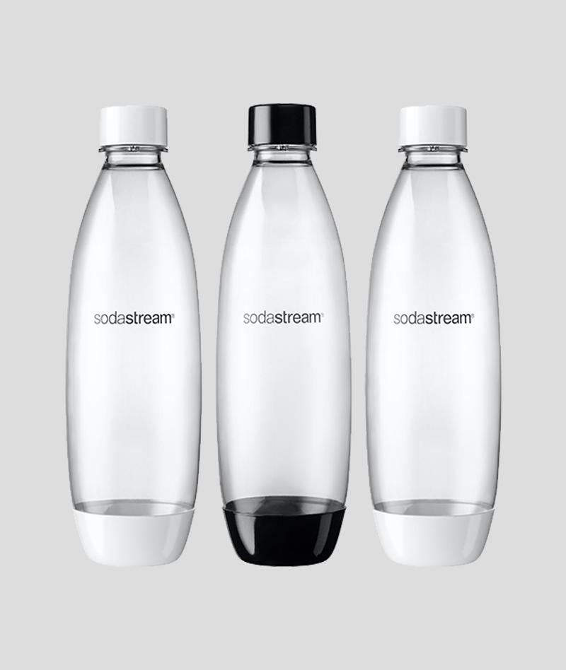 שלישיית בקבוקים בצבע שחור-לבן (1 ליטר)