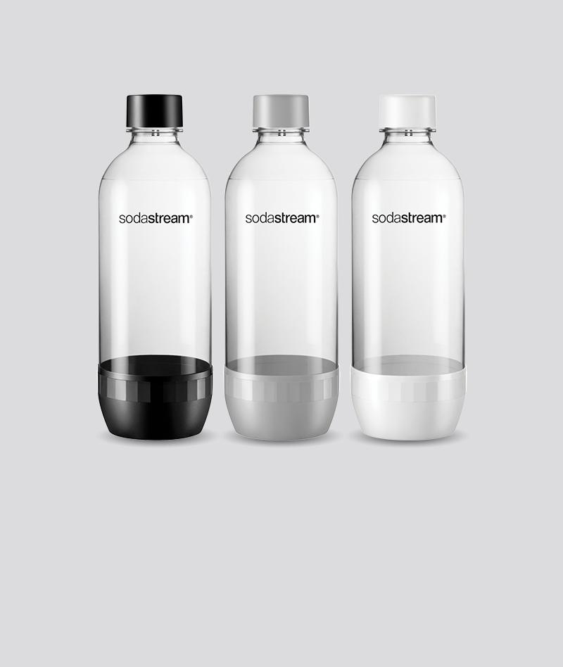 3-Pack 1L PET Flaskor