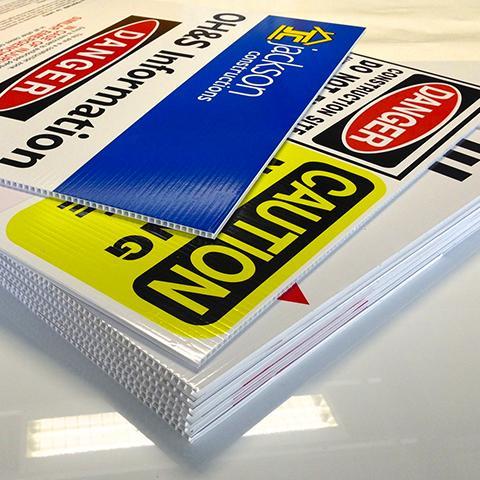 Corrugated Plastic Sign Printing