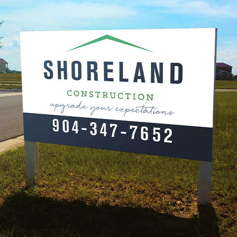 Construction Company Site Signs