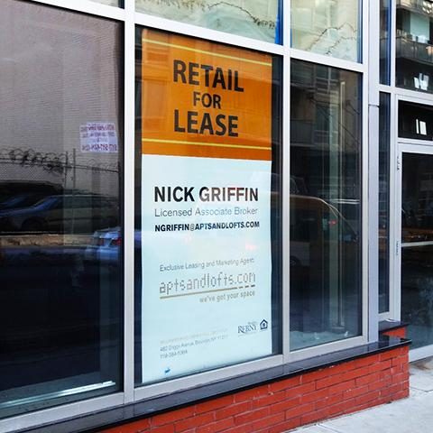 For Lease Window Signs