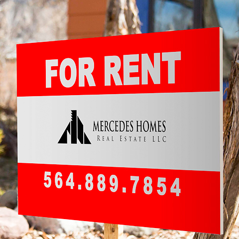 For Rent Banner & Signs