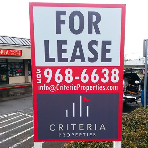 For Lease Signs and Banners