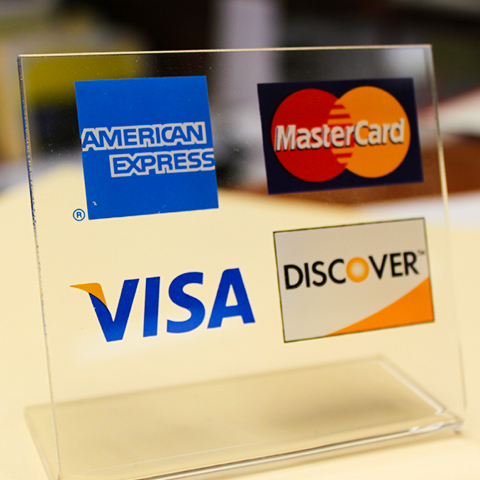 Credit Card Signage